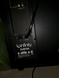 Infinity 750 Home theatre sub woofer
