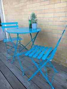 Cute Blue Patio Table for Two Kitchener / Waterloo Kitchener Area image 2