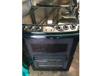 Black Parkinson Cowan 60cm gas cooker grill & oven good condition with guarantee