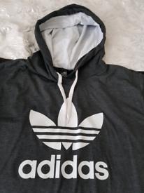 Adidas hoody and hooded dress / new look jacket