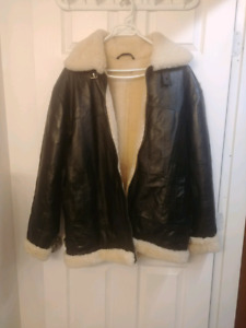 Leather Bomber Jacket men and women