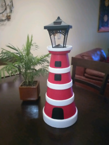 Garden Lighthouse with Functional Light