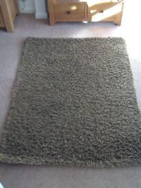 Brown rug.