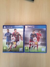 FIFA 15 and FIFA 16 for PlayStation 4