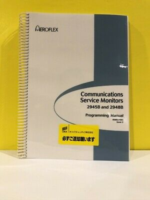 Aeroflex 46882683 Communications Service Monitor 2945b2948b Programming Manual