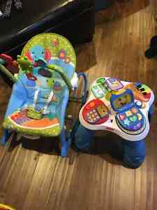 Baby rocker and play table
