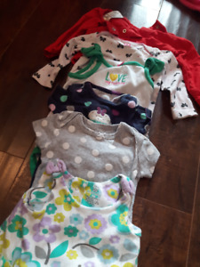 9 Month, Girls Short and Long  Sleeve Diaper Shirts.