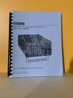 Keithley 617-981-01 Model 617 Programmable Electrometer Instruction Manual
