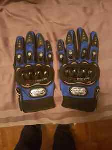 Pro-Biker Motorcycle gloves - Size M- Blue - Armoured