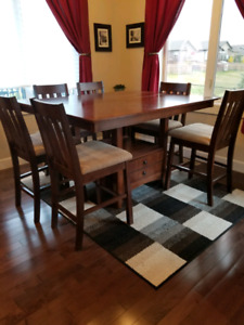Kitchen table with small storage cabinet