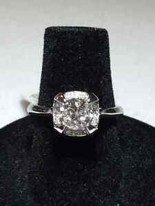 1.00TCW 14K WG BIG ENGAGEMENT RING ON SALE NOW !!!!