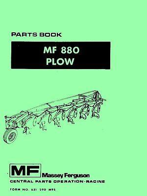 Massey Ferguson Mf 880 Mf880 Plow Parts Manual