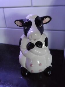 Comical Ceramic Cow Pitcher for milk or utensil holder