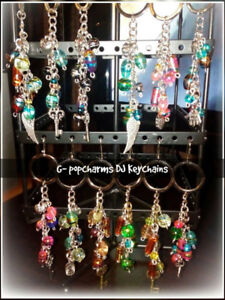 Hand crafted glass bead jewelry and keychains