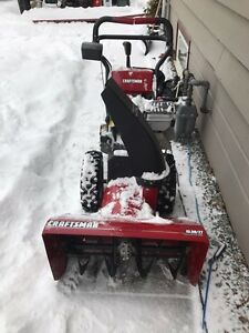 Craftsman snow blower like new