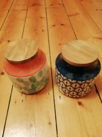 Ceramic containers - £12 for both