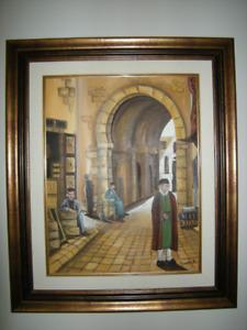 Peinture à l'huile provenant de la Tunisie