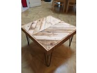 Pallet coffee table hairpin legs reclaimed upcycled shabby chic rustic shabby chic