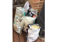 Six bags of rubble - free
