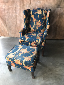 Wing Chair w/Matching Ottoman/stool ****JUST REDUCED***