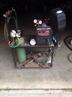 Mig welder Lincoln & acetylene torches combo