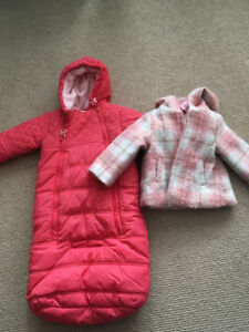 Baby girl - bunting and coat