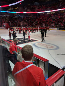 World Juniors: row 1 behind the bench (various games)
