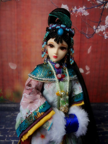 """1/6 Handmade Chinese Qing Dynasty Kurhn Ancient Costume Doll Outfit Toy Gift 12"""""""