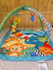 Infant Activity Mat, Vibrating Chair, Diaper Bag & Nursing Cover