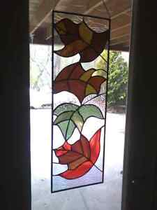 Stained glass window is décor