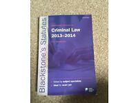 CRIMINAL LAW STATUTES 2013-2014