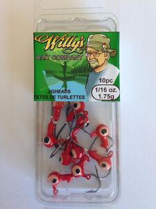 Jigheads 1/16oz - Buy in Quantity - SAVE $$$ - Fishing Tackle