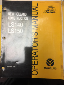 1999 New Holland Construction LS140 and LS150 Operator's Manual