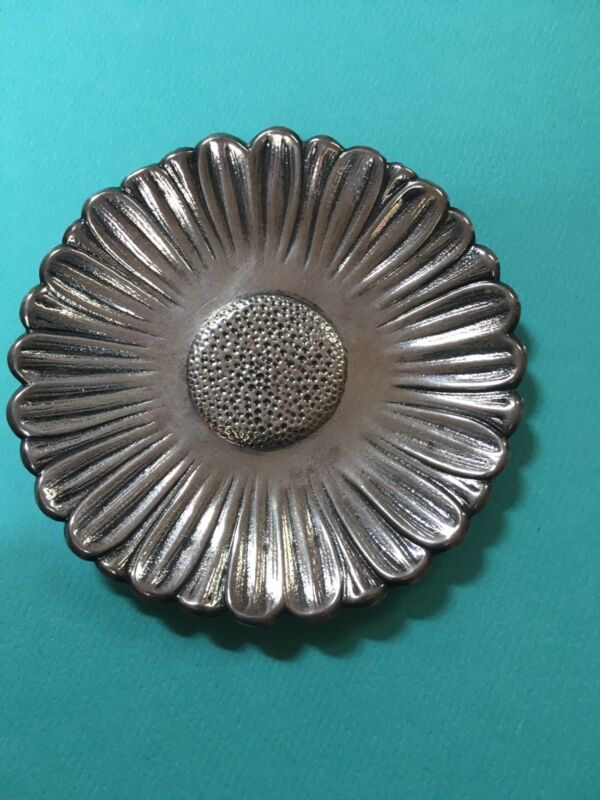 Tiffany & Co. Makers sterling silver daisy coaster vintage very rare flower