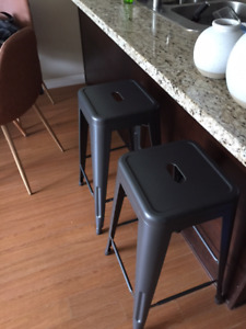 Industrial Style Bar Stools and Floor Lamp