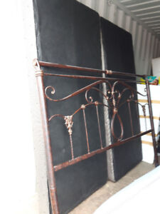 King Headboard and 2 singles or 1 King Boxspring for Sale