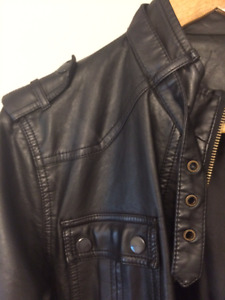Black Leather Jacket (with LONG sleeves)