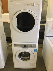 "24"" White Stackable Front Load Washer/ Dryer Set"
