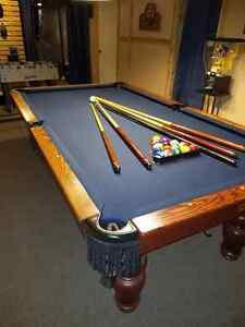 Pool Table with Slate Bed