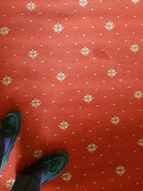 Red Ulster Carpets woven carpet 180cmX185cm - Unused