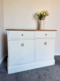 Two door/two drawer stag cabinet