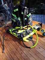 Man's and woman's scuba gear