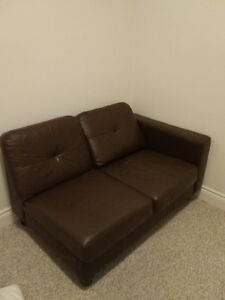 Leather Sectional Piece