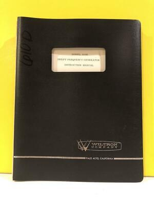Wiltron Model 610b Swept Frequency Generator Instruction Manual