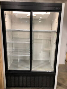 Used Habco 48 in. 40 cu. ft. Sliding Glass Door Refrigerator