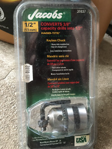 Convertor for Drill from 3/8 into 1/2