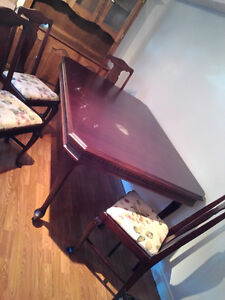 Antique dining room table and 4 chairs