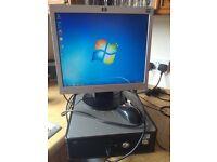 Dell Optiplex small form desktop PC and monitor
