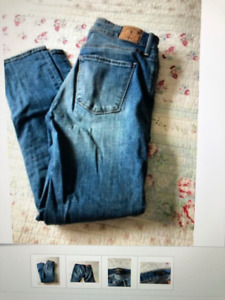 5 pairs ladies jeans sz27/28, true religion, lucky, free people,