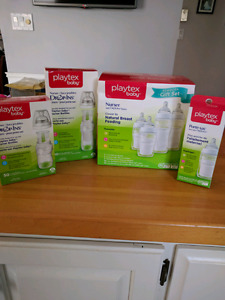 Playtex bottle set with liners